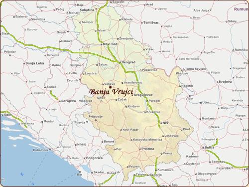 banja vrujci mapa Kako doći do banje Vrujci   Vila Ivanović banja vrujci mapa